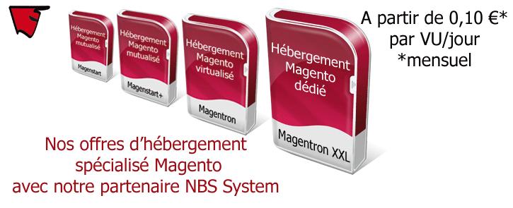 Nos offres d'hébergement Magento